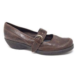 Aerosoles Leather Wedge Heel Mary Jane Shoes (188)